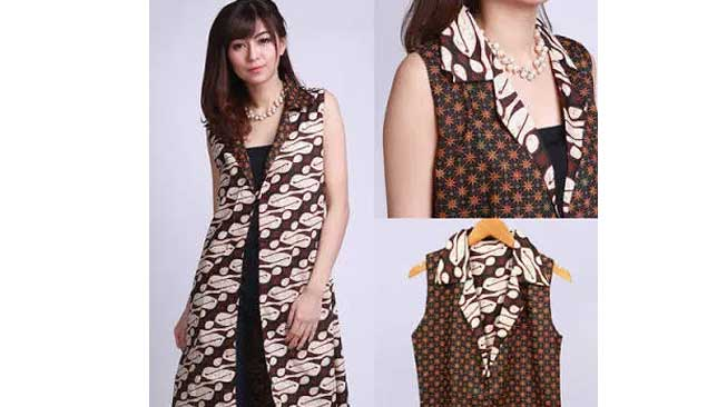 Model Batik Outer Panjang